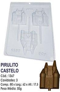 FORMA PLÁSTICA PARA CHOCOLATE BWB PIRULITO CASTELO DE PRINCESA UN R.1367