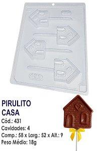 FORMA PLÁSTICA PARA CHOCOLATE BWB PIRULITO CASA UN R.431