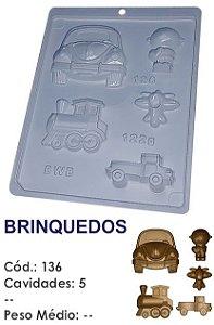 FORMA PLÁSTICA PARA CHOCOLATE BWB BOMBOM BRINQUEDOS CHÁ DE BEBÊ UN R.136