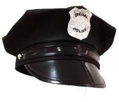 CHAPEU DE TECIDO QUEPE POLICIAL PRETO INFANTIL R.817229
