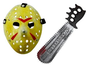 KIT FANTASIA JASON VOORHEES MÁSCARA + MOTOSERRA C/2PÇS