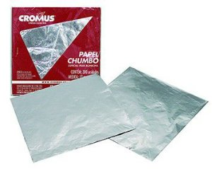 PAPEL CHUMBO PRATA C/300UN L.8X7,8CM R.022306