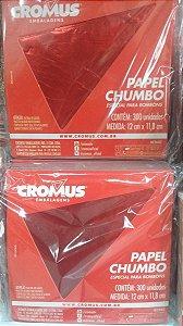 PAPEL CHUMBO VERMELHO C/300 L.12X11,8CM R.022510