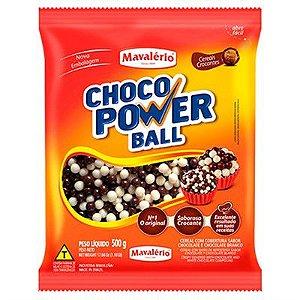 CHOCO POWER MINI BALL LEITE/BRANCO MA.C/500GR R.4161