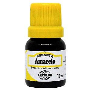 CORANTE LÍQUIDO AMARELO 10ML ARCOLOR UN
