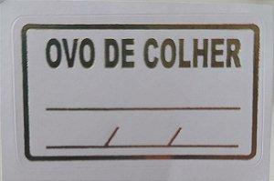ETIQUETA DECORATIVA OVO DE COLHER M.C/100UN R.561