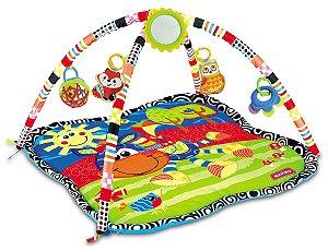 Tapete para bebê c/5 brinquedinhos tipo móbile para pendurar