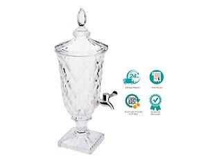 Suqueira Dispenser Cristal Ecológico Para Suco Água  Lyor 2l