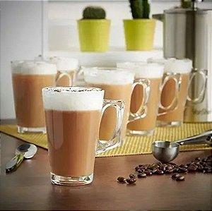 6 Xícaras Vidro Café Nespresso Dolce Gusto 225ml Lyor 6543