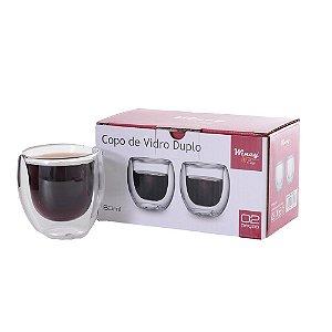 Copos Para Café Expresso Parede Dupla 2 Peças 80 ML Wincy