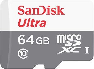 Micro SD Card SanDisk Ultra 64GB + Adaptador