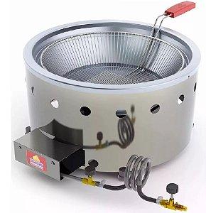 Fritadeira Industrial 7 Litros Aço Inox Progás PR70G á gás