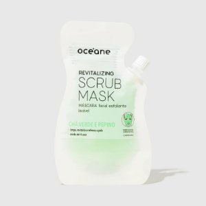 Máscara Facial Esfoliante Chá Verde e Pepino 35ml Revitalizing Scrub Mask Oceane