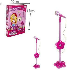 Microfone com Pedestal Glam Girls