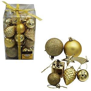 Bolas e Enfeites Natalinos - Dourado