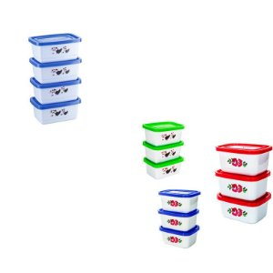 Conjunto de Potes Retangular Mini - 4 pçs
