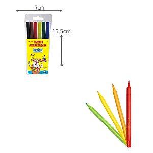 Caneta Hidrográfica - 6 cores