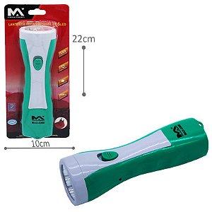 Lanterna verde manual recarregável 5  Led