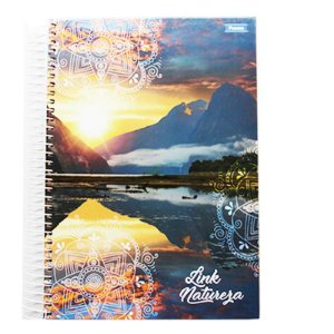 Caderno Universitário Link 12 matérias - Pct 04 und