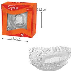 Prato Fundo Cristal - 6 pratos
