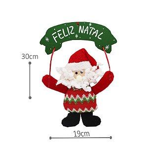 Enfeite de Natal - Placa Papai Noel