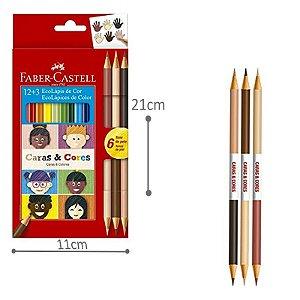 Lápis de Cor Caras e Cores + 3 cores