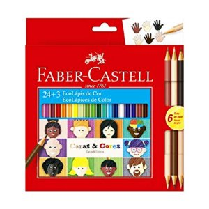 Lápis de Cor - Caras e Cores 24 + 3 Cores-