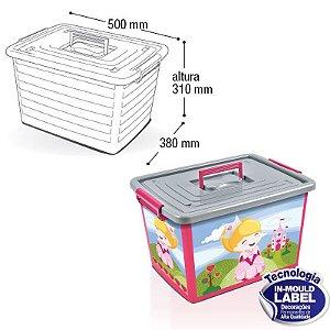 Container Organizador Label Rosa - 35L