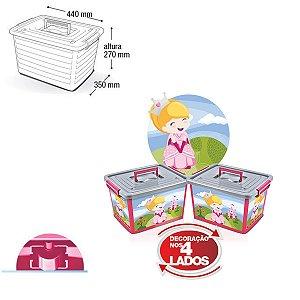 Container Organizador Label Rosa - 30 Lts