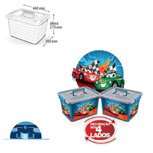 Container Organizador Label Azul - 30 Lts