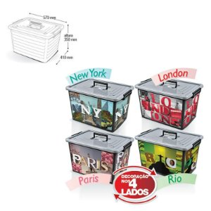 Container Organizador Label - 50Lts