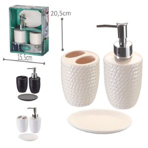 Kit p/ Banheiro Porcelana - Redondo