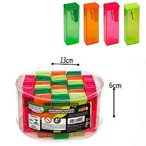 Apontador Plástico Retangular c/ depósito - 24 und