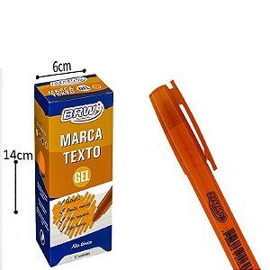 Marca Texto Gel Laranja - 12 und