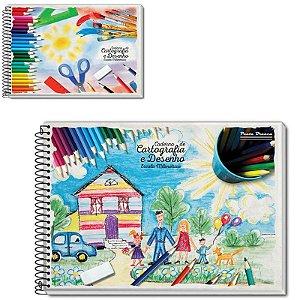 Caderno de Desenho  Capa Dura - 60 folhas