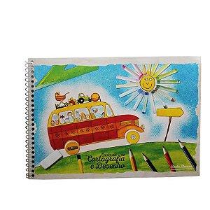 Caderno de Desenho Flex Espiral - 48 folhas