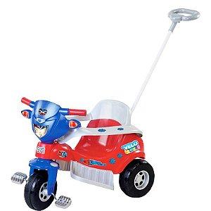 Motoca Tico-tico Velo - Vermelho c/ Azul