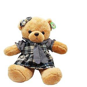 Urso de Pelúcia - Vestido Xadrez