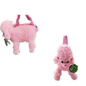 Bolsa de Pelúcia - Cachorrinho Rosa