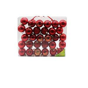 Bola de Natal Vermelha - 30 pçs