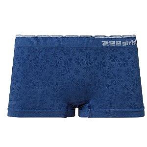Calcinha Boxer Infantil Sem Costura Azul