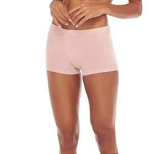 Calcinha Boxer Sem Costura Rosa Blush
