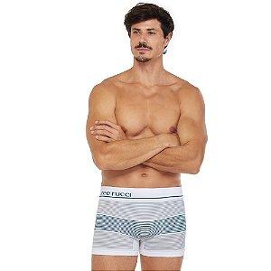 Cueca Boxer Listrada Sem Costura Branco