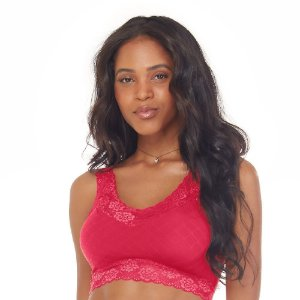 Top Shine Marrakech Com Renda E Bojo Removível Sem Costura Pink