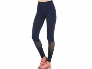 Calça Legging Fitness Sem Costura Black Iris Azul