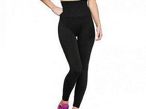 Calça Legging Modeladora Fitness Sem Costura Preta