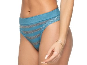 Calcinha Comfort Fashion Striped Azul