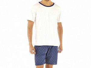 Conjunto Camiseta Mescla e Bermuda Estampada