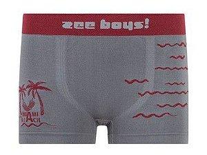 Cueca Boxer Infantil Miami Beach Cinza