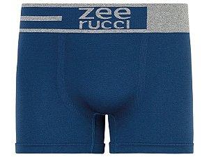 Cueca Boxer Lisa sem Costura Azul